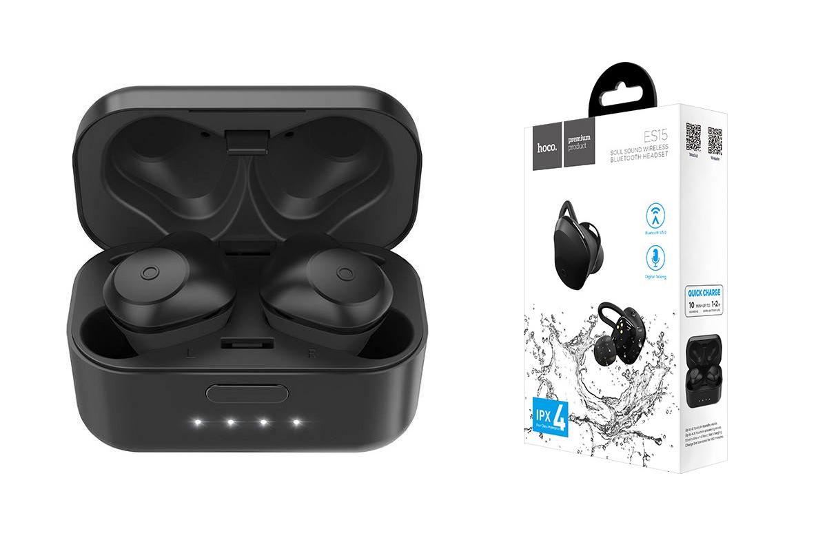 Bluetooth-гарнитура ES15 Soul sound wireless HOCO черная