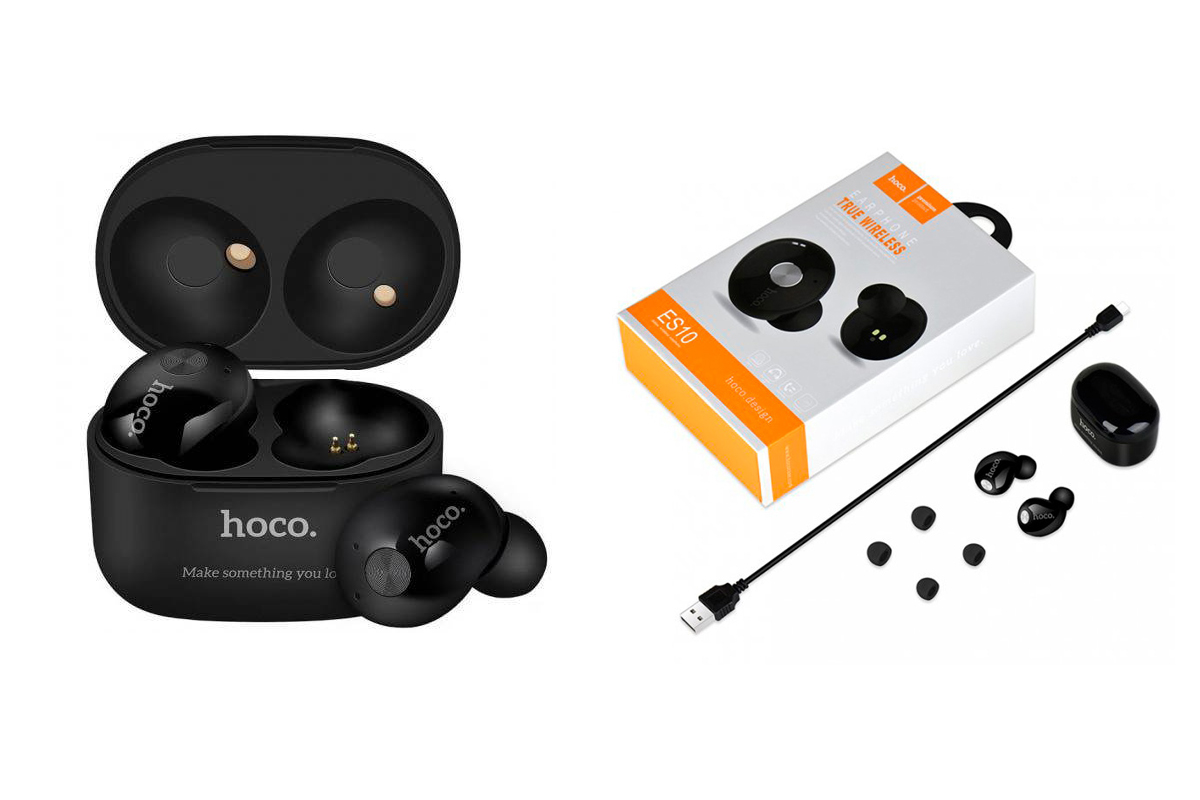 Bluetooth-гарнитура ES10 Adore  wireless earphone HOCO черная