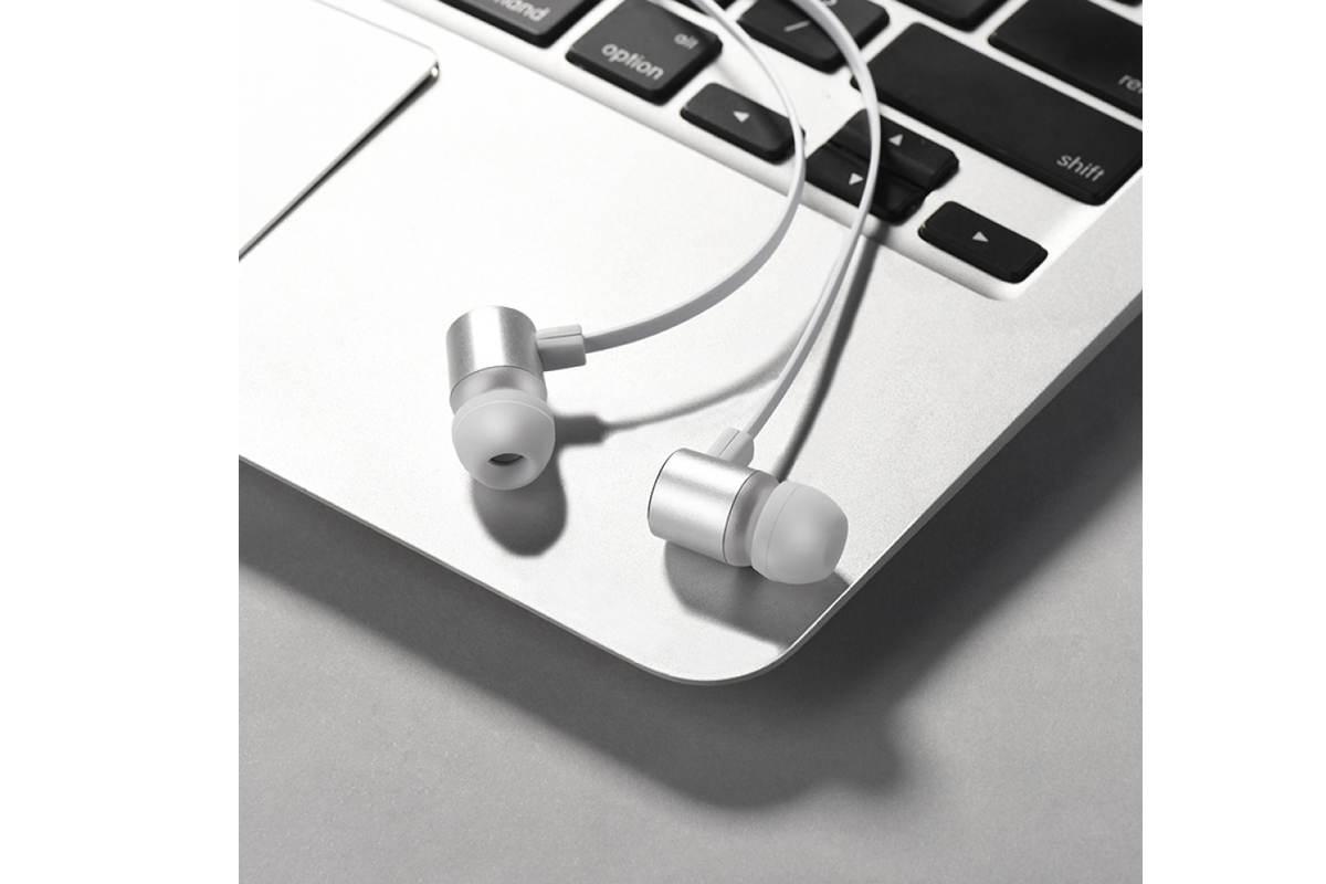 Гарнитура HOCO M33 Full harmony wire control earphones with microphone 3.5мм серый