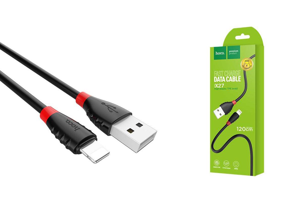 Кабель для iPhone HOCO X27 Excellent charge charging data cable for lightning 1м черный