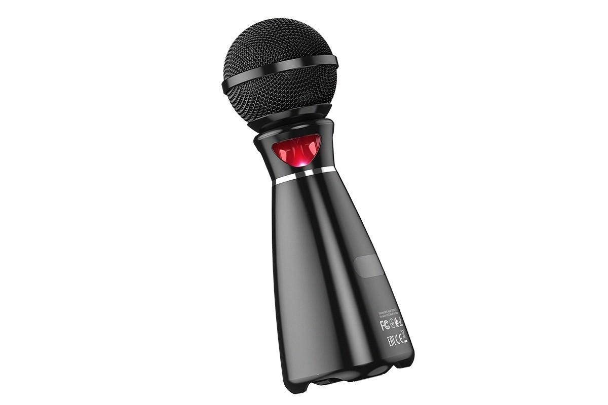 Портативная беспроводная акустика караоке HOCO BK6 Hi-song K song microphone цвет черный