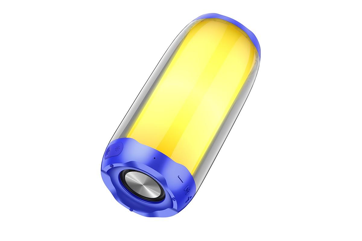 Портативная беспроводная акустика HOCO HC8 Pulsating colorful luminous wireless speaker цвет синий