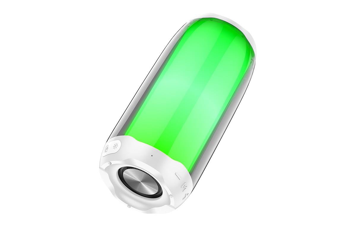 Портативная беспроводная акустика HOCO HC8 Pulsating colorful luminous wireless speaker цвет белый