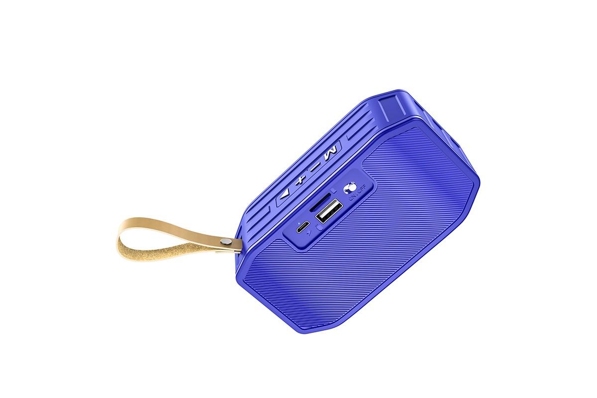 Портативная беспроводная акустика HOCO BS42 Smart sports BT speaker цвет синий