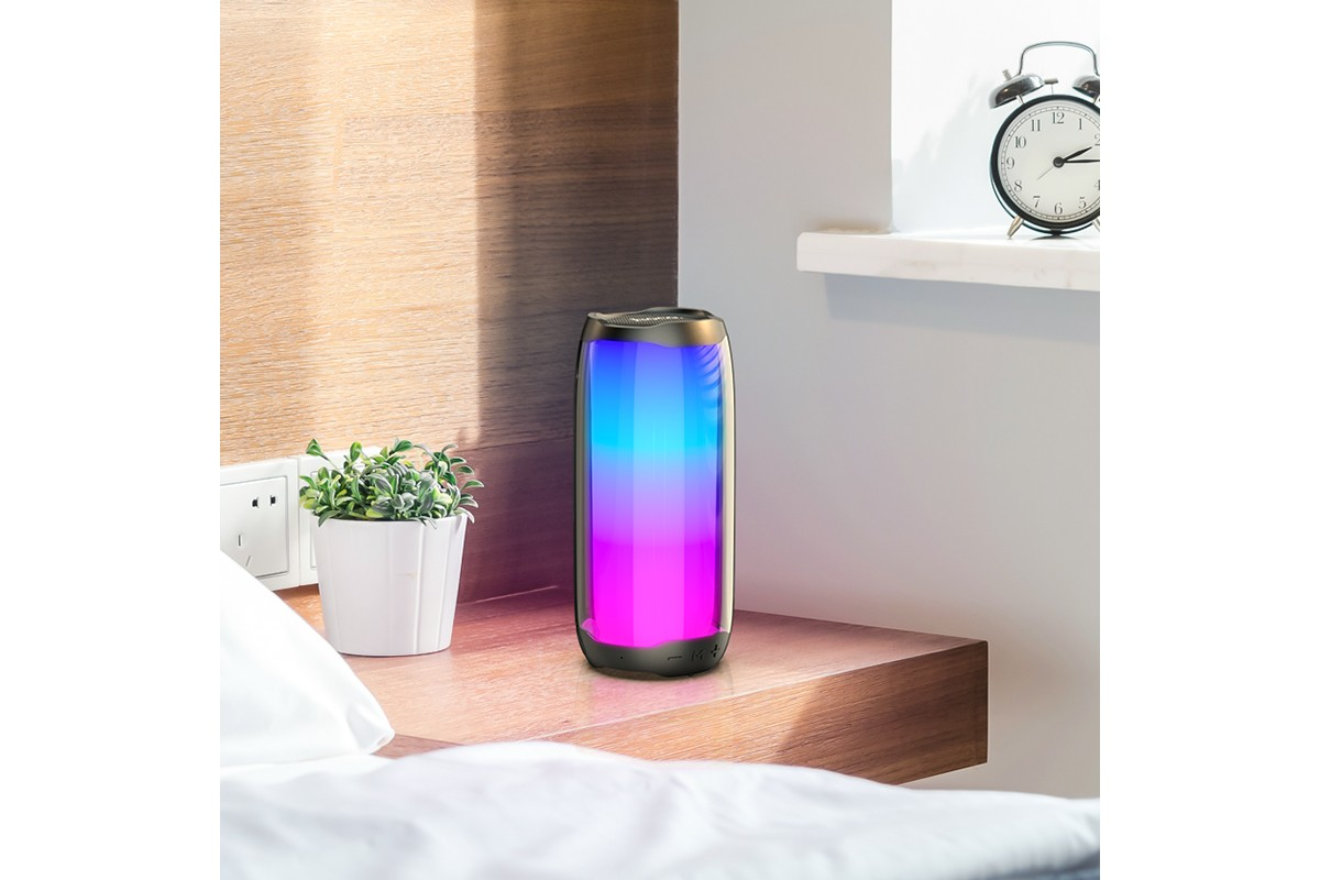Портативная беспроводная акустика HOCO HC8 Pulsating colorful luminous wireless speaker цвет черный
