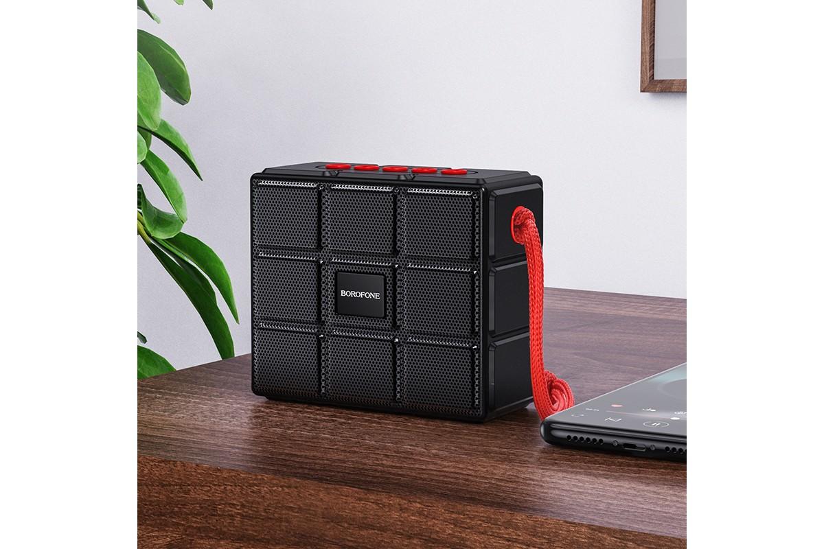 Портативная беспроводная акустика BOROFONE BR16 Gage sports BT speaker  цвет черный