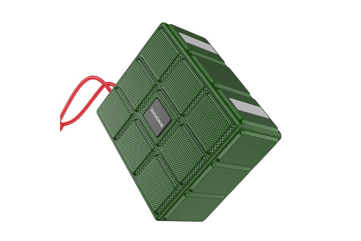 Портативная беспроводная акустика BOROFONE BR16 Gage sports BT speaker  цвет зеленый