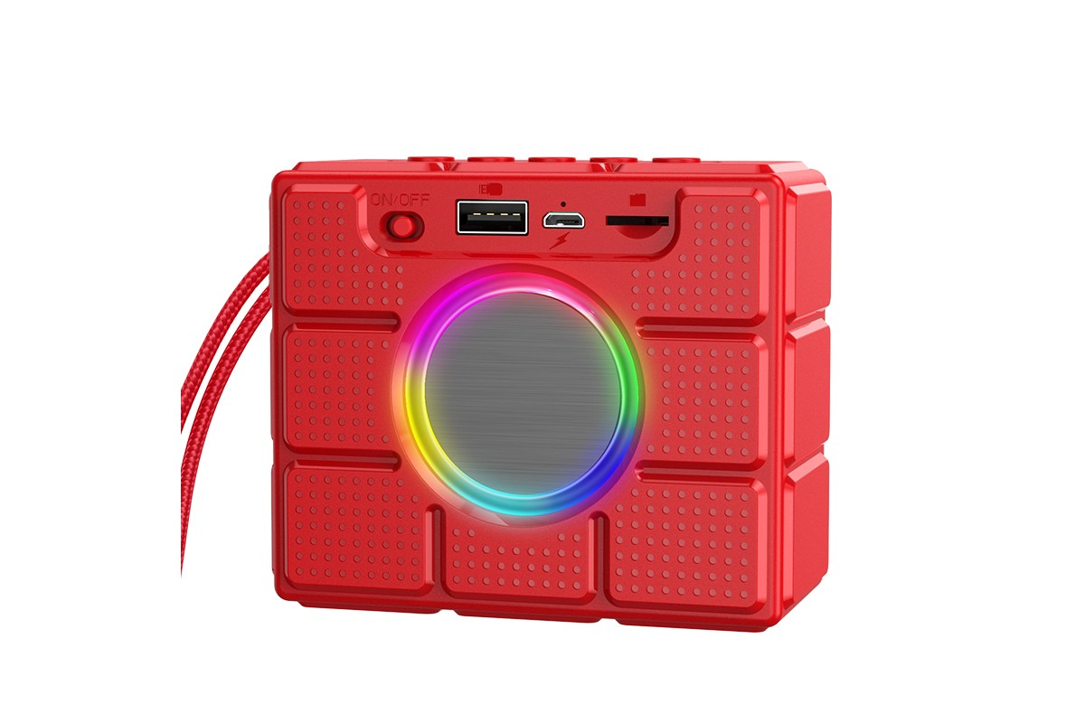 Портативная беспроводная акустика BOROFONE BR16 Gage sports BT speaker  цвет красный