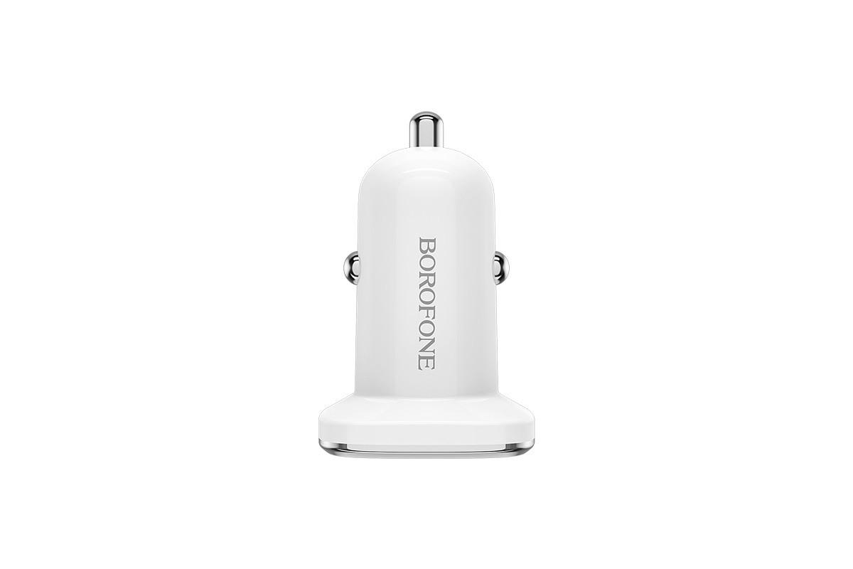 Автомобильное зарядное устройство 2USB BOROFONE BZ12 Listing power duble port car charger 2400 mAh белый