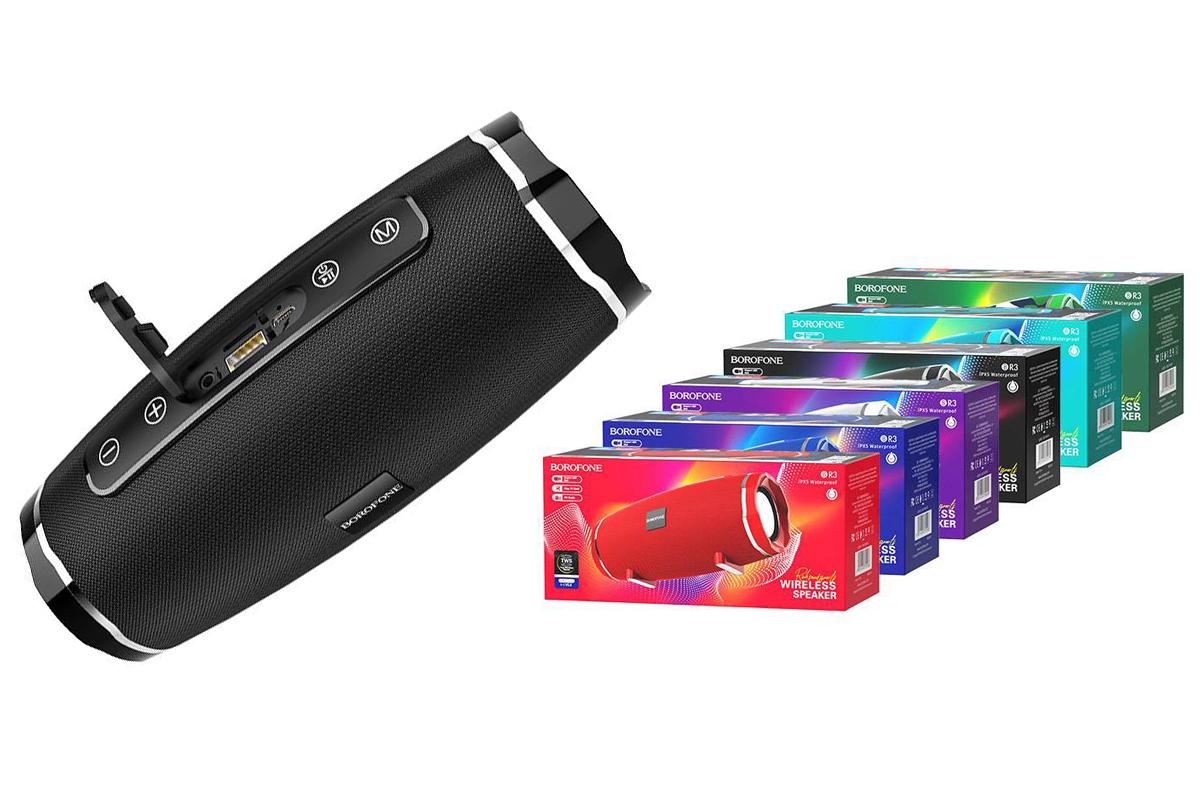 Портативная беспроводная акустика BOROFONE BR3  цвет черный