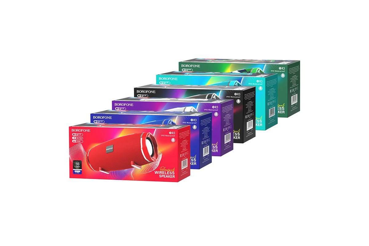 Портативная беспроводная акустика BOROFONE BR3  цвет красный