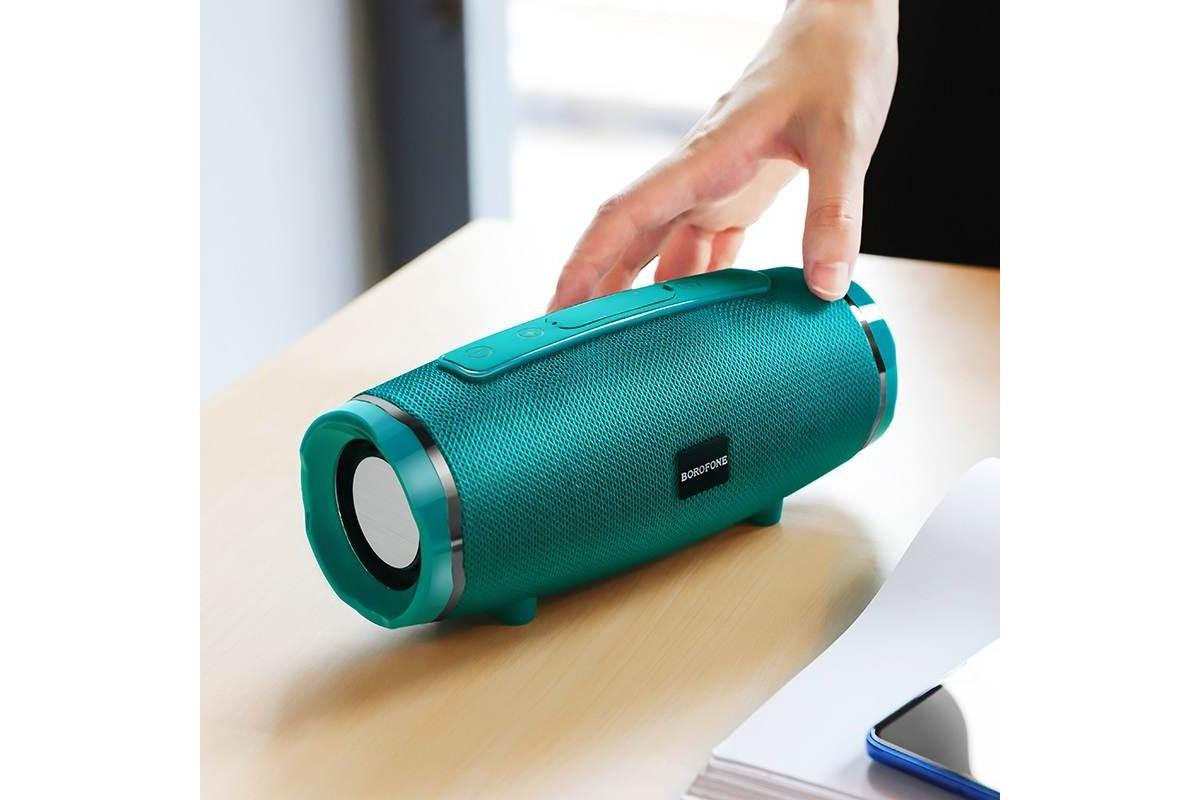 Портативная беспроводная акустика BOROFONE BR3  цвет зеленый