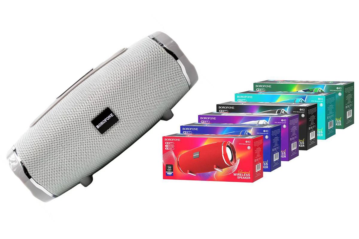 Портативная беспроводная акустика BOROFONE BR3  цвет серый