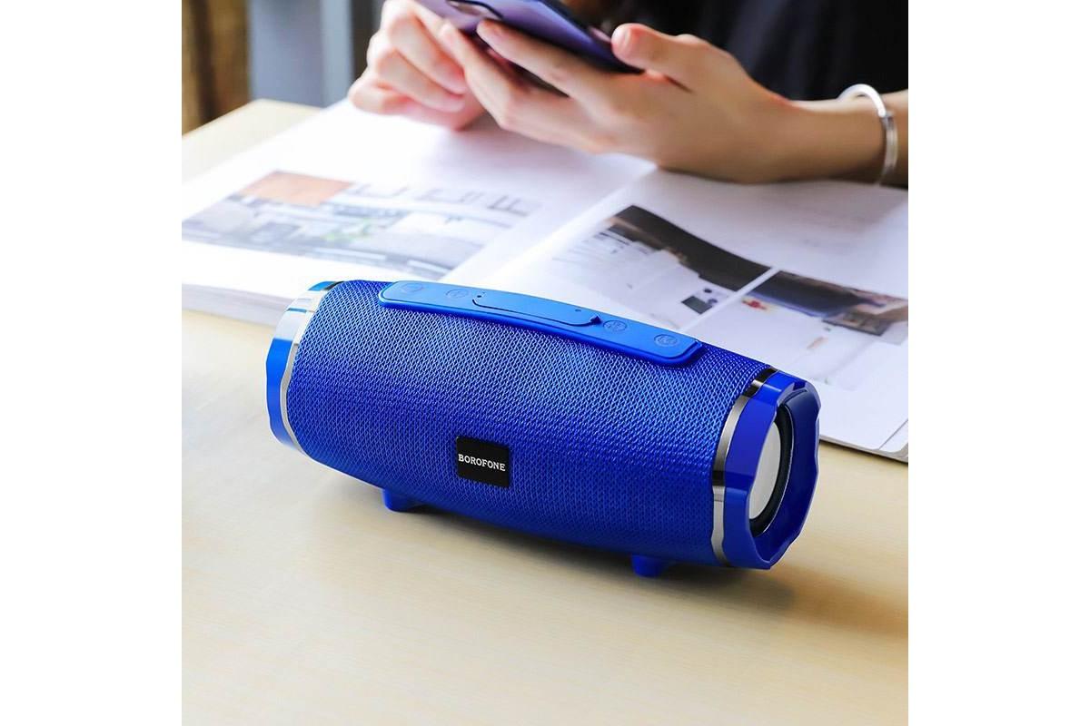 Портативная беспроводная акустика BOROFONE BR3  цвет синий